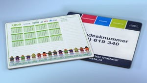 Bedrukte Mousepadblokken geleverd en bedrukt door Prikkels BV uit Eindhoven