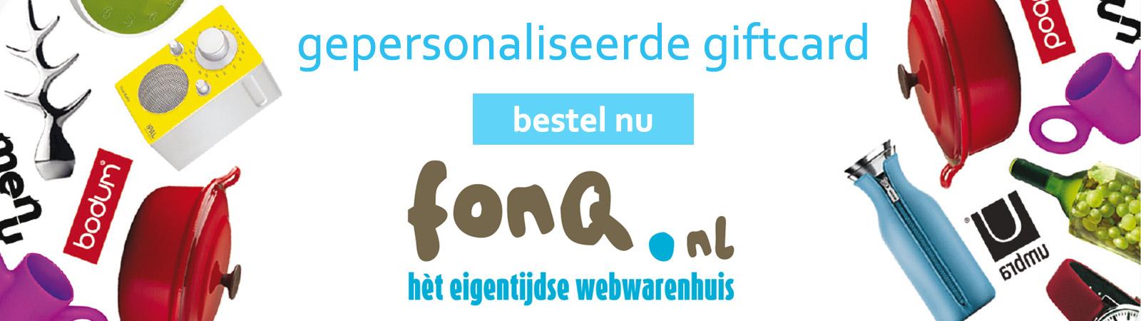 de FonQ cadeaukaart voor bedrijven van Prikkels BV