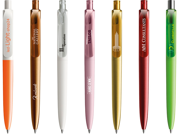 Prodir DS8 pen met opdruk van Prikkels BV uit Eindhoven