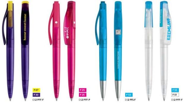 Prodir DS2 frosted bedrukte pennen van Prikkels BV uit Eindhoven