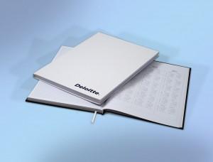 Bedrukte Hardcover Notitieboek geleverd en bedrukt door Prikkels BV uit Eindhoven
