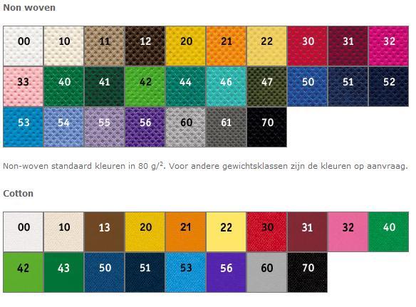 Kleuren tassen