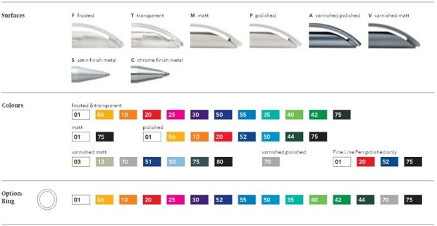 Prodir DS3 kleuren en uitvoeringen van Prikkels BV uit Eindhoven