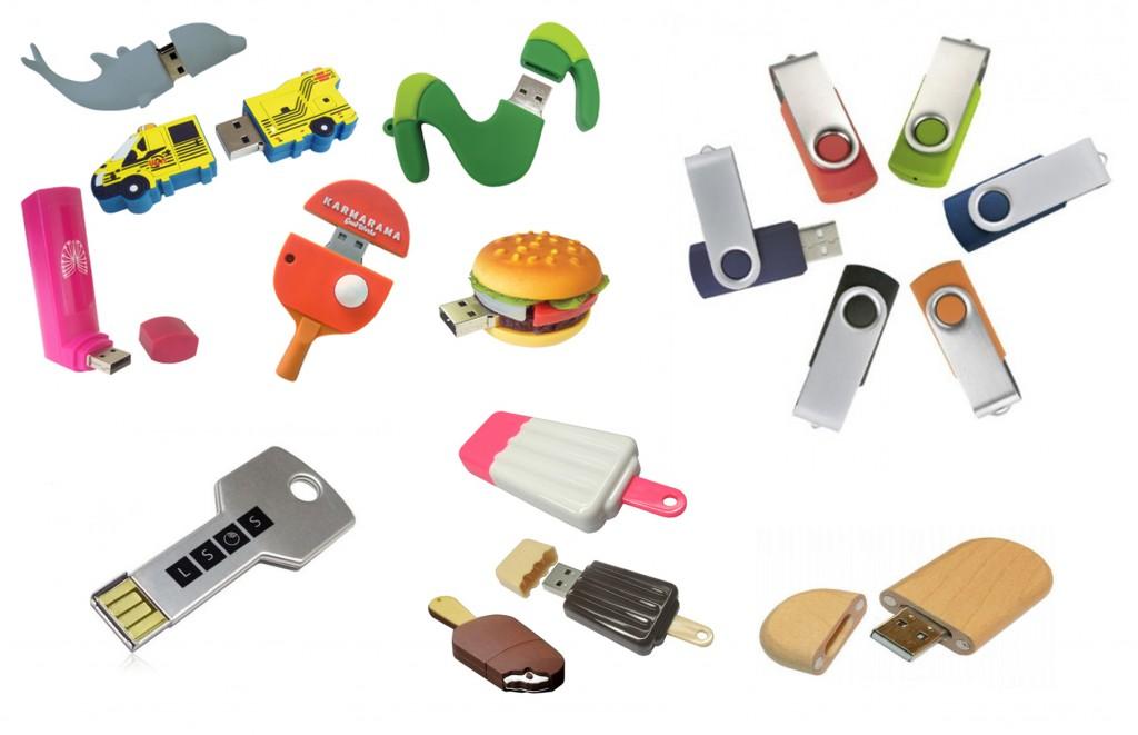 USB sticks in eigen vorm met bedrukking of gravering
