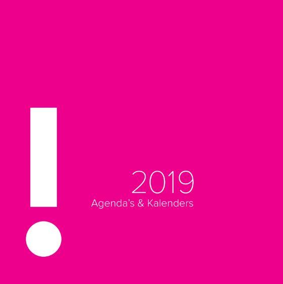 bedrukte agenda 2019