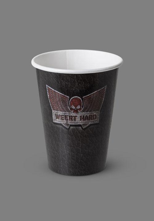 Bedrukte koffiebeker